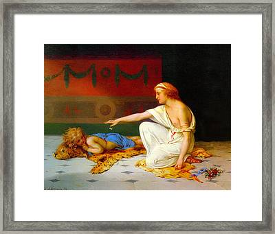 An Afternoon's Amusement Framed Print by Pierre Coomans