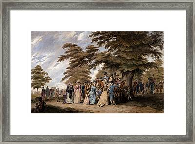 An Airing In Hyde Park, 1796 Framed Print by Edward Days