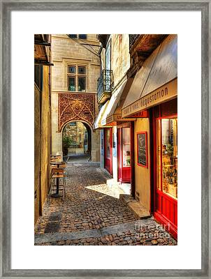 An Alley In Avignon Framed Print by Mel Steinhauer