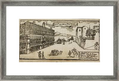 An Ancient Illustration Of Naples Framed Print by British Library
