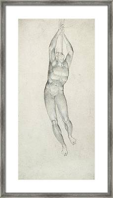 An Angel With A Trumpet Framed Print by William Blake