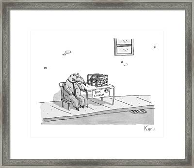 An Anteater Sells Box Lunch -- Ant Farms Framed Print by Zachary Kanin