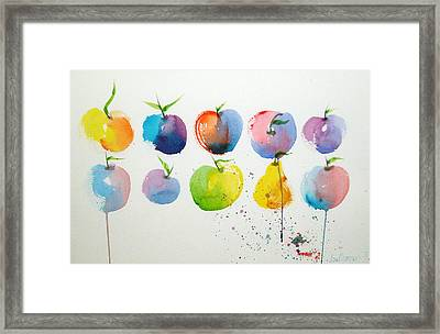 An Apple A Day Framed Print by Joe Prater