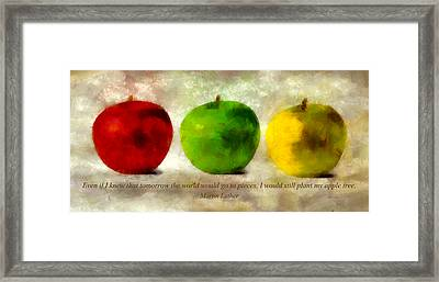 An Apple A Day With Martin Luther Framed Print by Angelina Vick