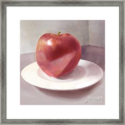 An Apple For Sue Framed Print by Joan A Hamilton