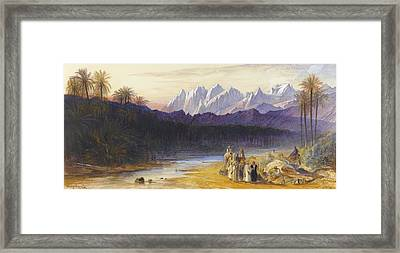 An Arab Encampment At Wady Feiran Framed Print by Celestial Images