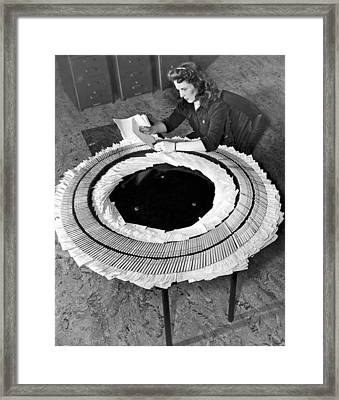 An Army Draft Service Worker Framed Print by Underwood Archives