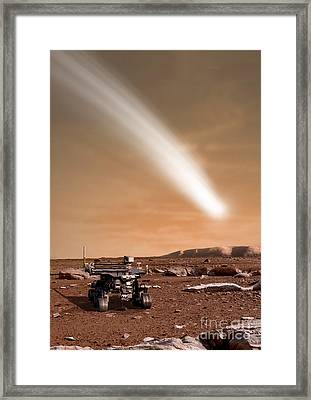 An Artists Depiction Of The Close Pass Framed Print by Marc Ward