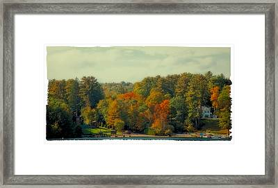 An Autumn Day On Lake George Framed Print by David Patterson