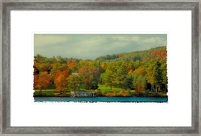 An Autumn Day On Lake George II Framed Print by David Patterson