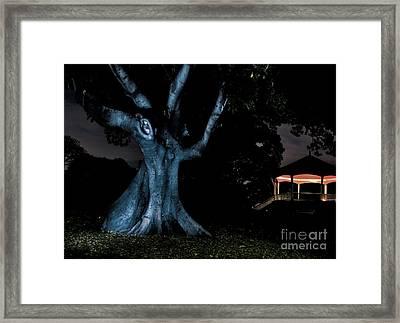 An Eerie Evening Framed Print by Kaye Menner