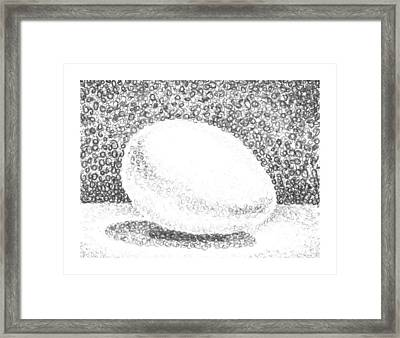 An Egg Study Two Framed Print by Irina Sztukowski