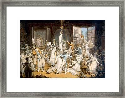 An Elegant Establishment For Young Framed Print by Edward Francis Burney