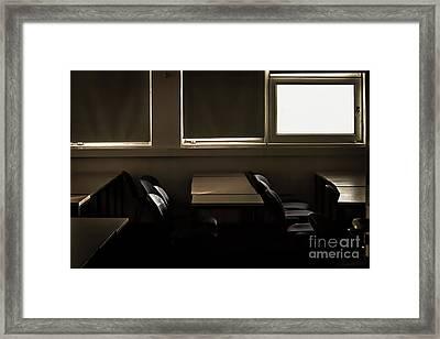 An Empty Classroom Framed Print by  Waite