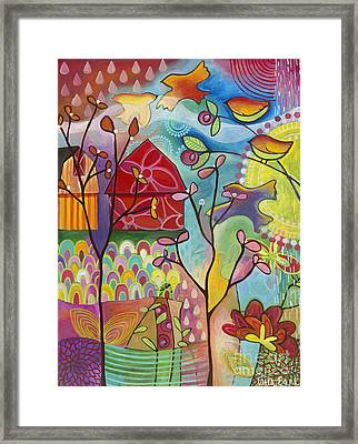 An Evening At The Barn Framed Print by Carla Bank
