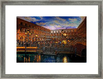 An Evening In Venice Framed Print by David Lee Thompson