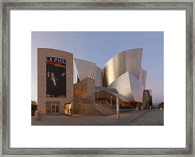 An Evening With Gustavo - Walt Disney Concert Hall Architecture Los Angeles Framed Print by Ram Vasudev