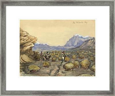 An Icelandic Bog Circa 1862 Framed Print by Aged Pixel