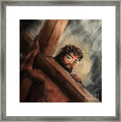 An Icon Of Grace Framed Print by Hazel Holland