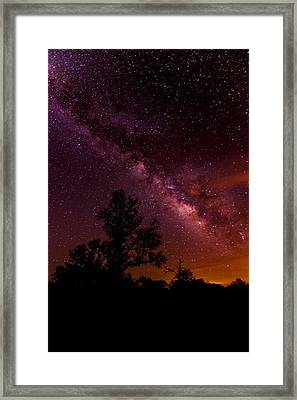 An Image Worth 520 Miles - Milky Way At Enchanted Rock Texas Hill Country Framed Print by Silvio Ligutti