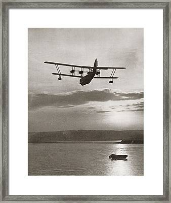 An Imperial Airlines Scipio Class Flying Boat C.1931.  From The Story Of 25 Eventful Years Framed Print by American School