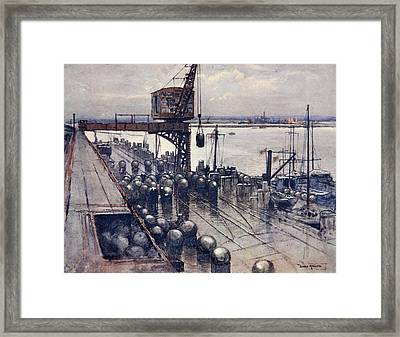 An Incipient Minefield, Illustration Framed Print by Donald Maxwell