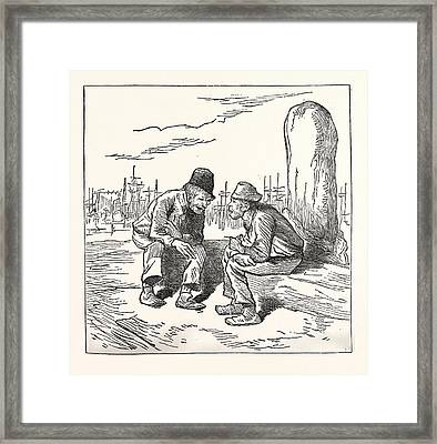 An Intelligent Voter, Engraving 1880, Us, Usa, Election Framed Print by American School