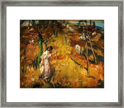 Tell Me Shepherds Framed Print by Celestial Images