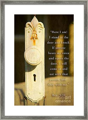 An Invitation  Framed Print by MaryJane Armstrong