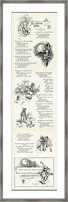 An Island Fable - The Mouse And Elephant - By Alvred Bayard 1898 Framed Print by Daniel Hagerman