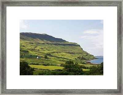An Isolated House Above Loch Na Keal Framed Print by Ashley Cooper