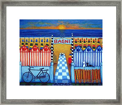 An Italian Summer's End Framed Print by Lisa  Lorenz