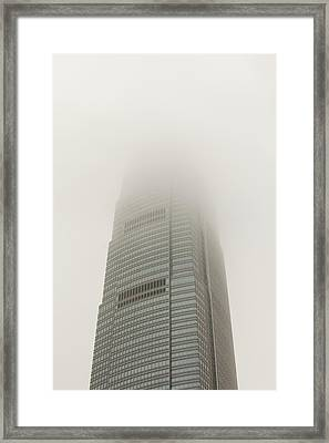 An Office Block In Hong Kong Framed Print by Ashley Cooper