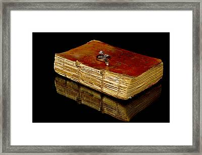 An Old Bible Framed Print by Toppart Sweden