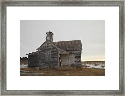 An Old Church On The Prairie  Framed Print by Jeff Swan