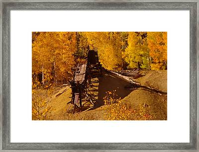 An Old Colorado Mine In Autumn Framed Print by Jeff Swan