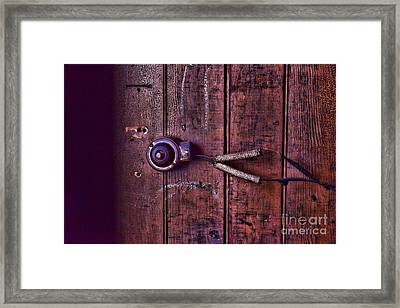 An Old Doorbell Framed Print by Paul Ward