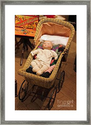 An Old Fashioned Christmas - Baby Buggy Framed Print by Suzanne Gaff