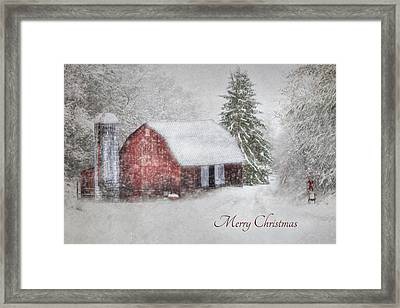 An Old Fashioned Merry Christmas Framed Print by Lori Deiter