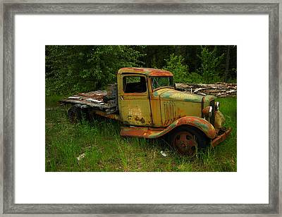An Old Flatbed Framed Print by Jeff Swan