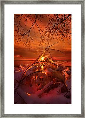 An Old Peaceful Tale Framed Print by Phil Koch