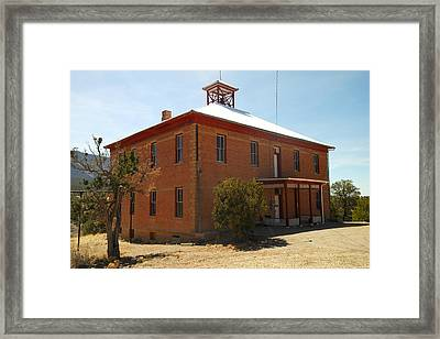 An Old School In White Oaks New Mexico Framed Print by Jeff Swan