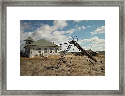 An Old School Near Miles City Montana Framed Print by Jeff Swan