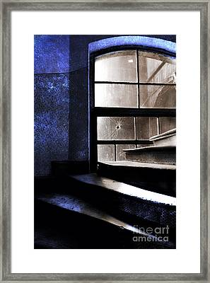 An Old Stairs And The Broken Window Framed Print by Jaroslaw Blaminsky