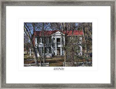 An Old White House Brentwood Tn Framed Print by Gina Munger