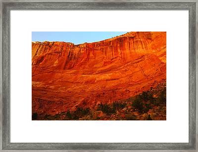 An Orange Wall Framed Print by Jeff Swan