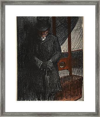 An Undertaker Awaits His Next Victim Framed Print by Eugene Cadel