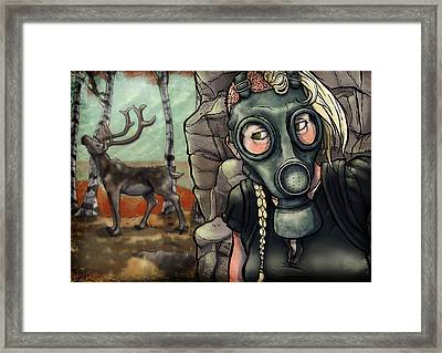 An Unexpected Encounter Framed Print by Alexa-Renee