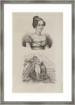 Ana Maria Cotapos De Carrera Framed Print by British Library