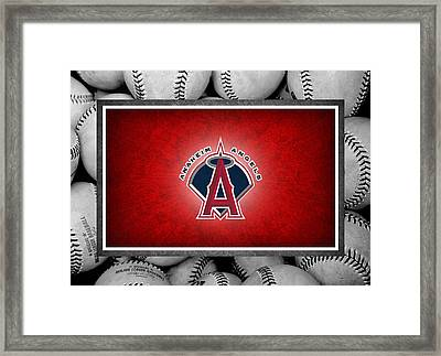 Anaheim Angels Framed Print by Joe Hamilton